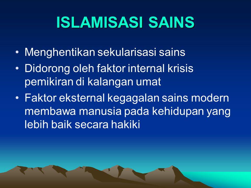 ISLAMISASI SAINS Menghentikan sekularisasi sains