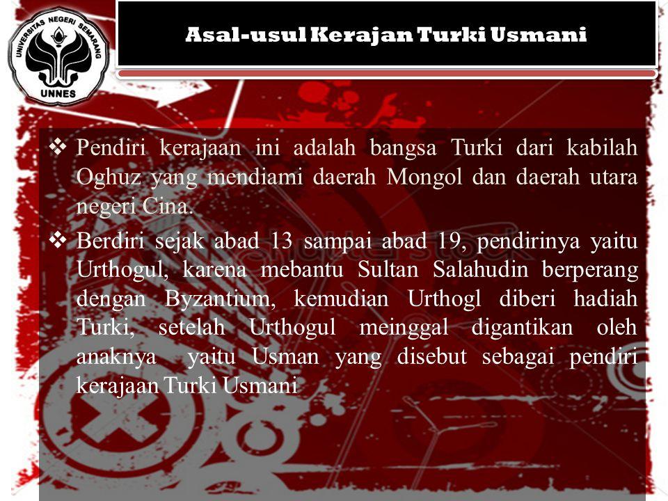 Asal-usul Kerajan Turki Usmani
