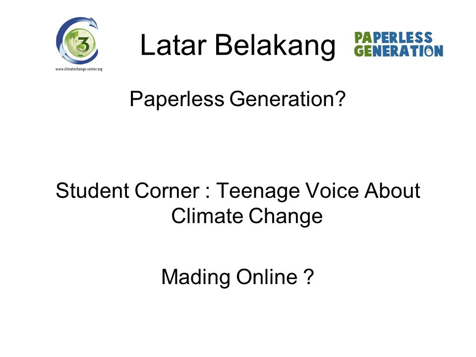 Student Corner : Teenage Voice About Climate Change