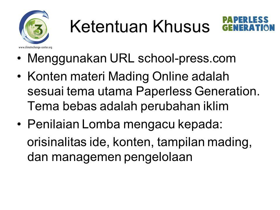 Ketentuan Khusus Menggunakan URL school-press.com