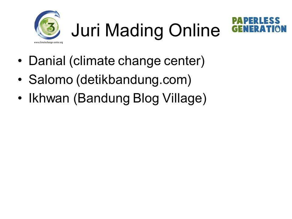 Juri Mading Online Danial (climate change center)