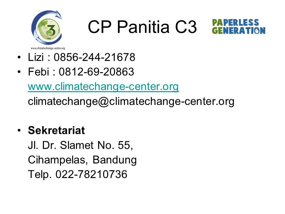 CP Panitia C3 Lizi : 0856-244-21678 Febi : 0812-69-20863