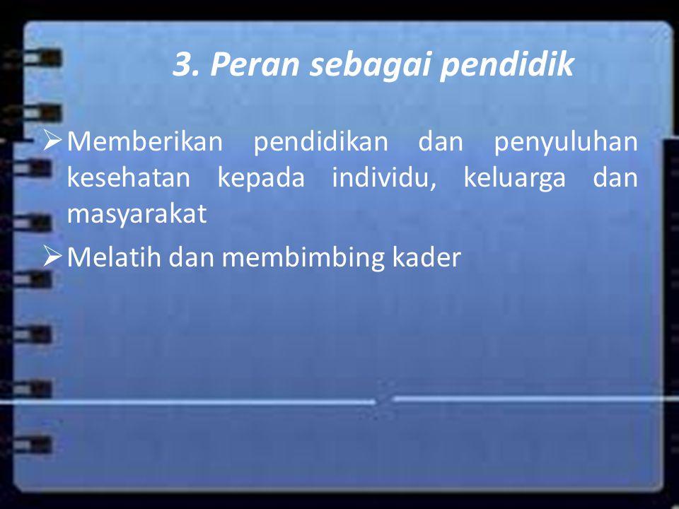 3. Peran sebagai pendidik