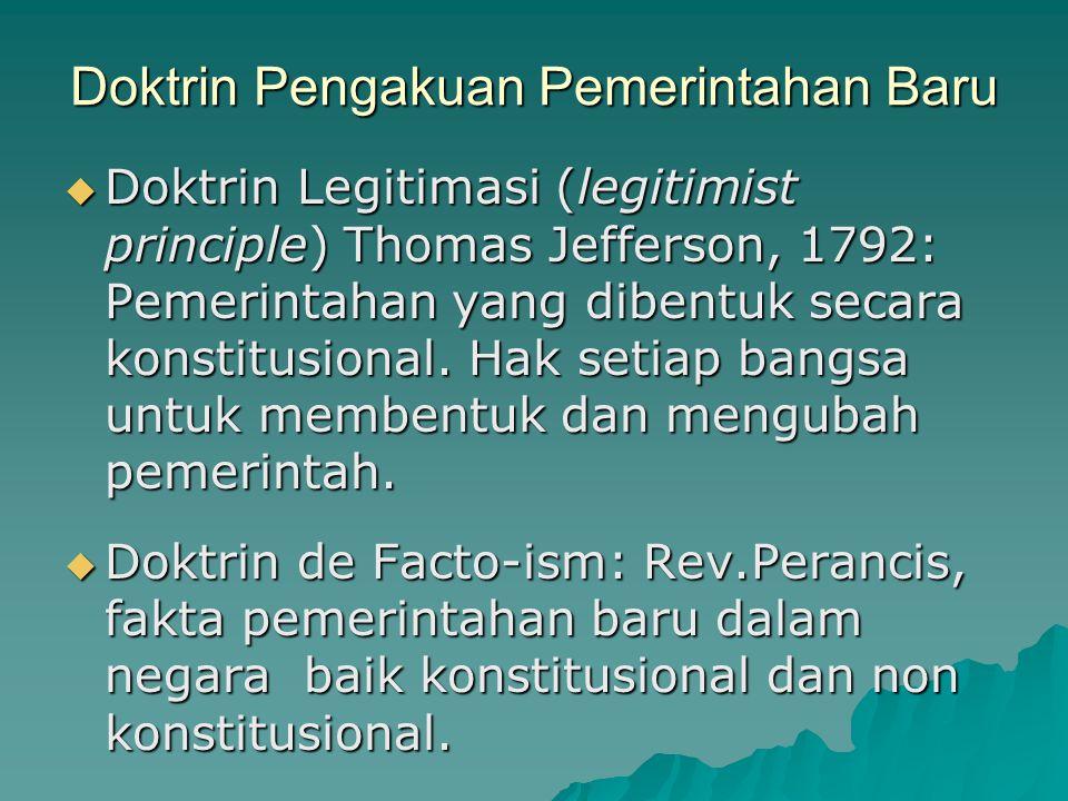 Doktrin Pengakuan Pemerintahan Baru