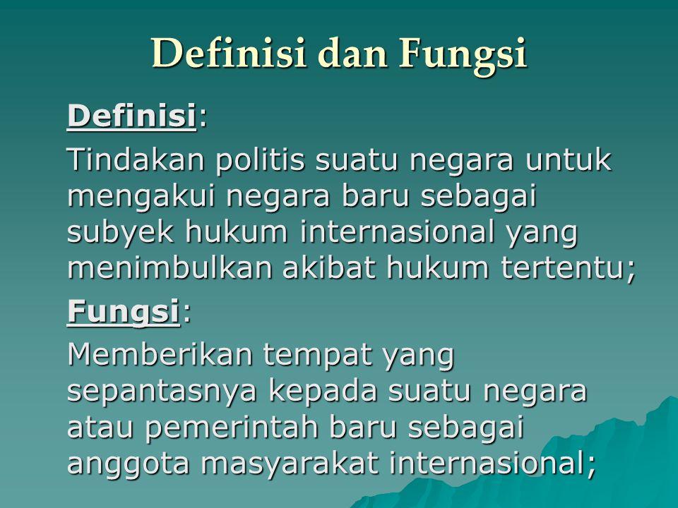 Definisi dan Fungsi Definisi: