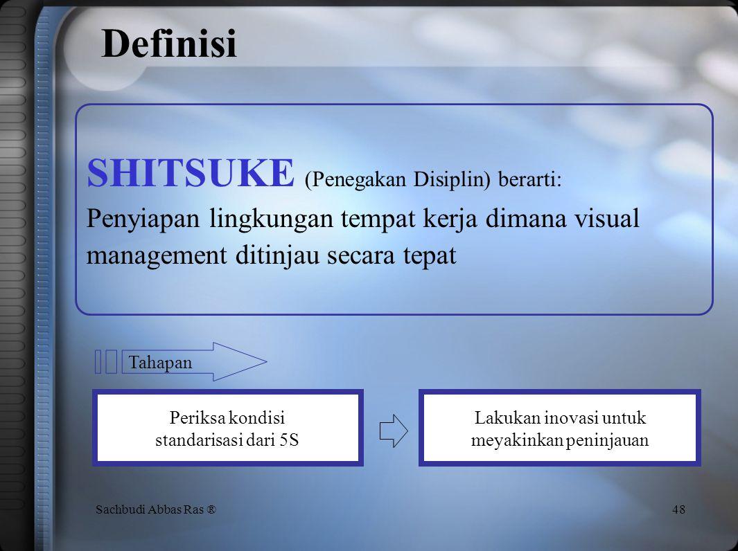Definisi SHITSUKE (Penegakan Disiplin) berarti: