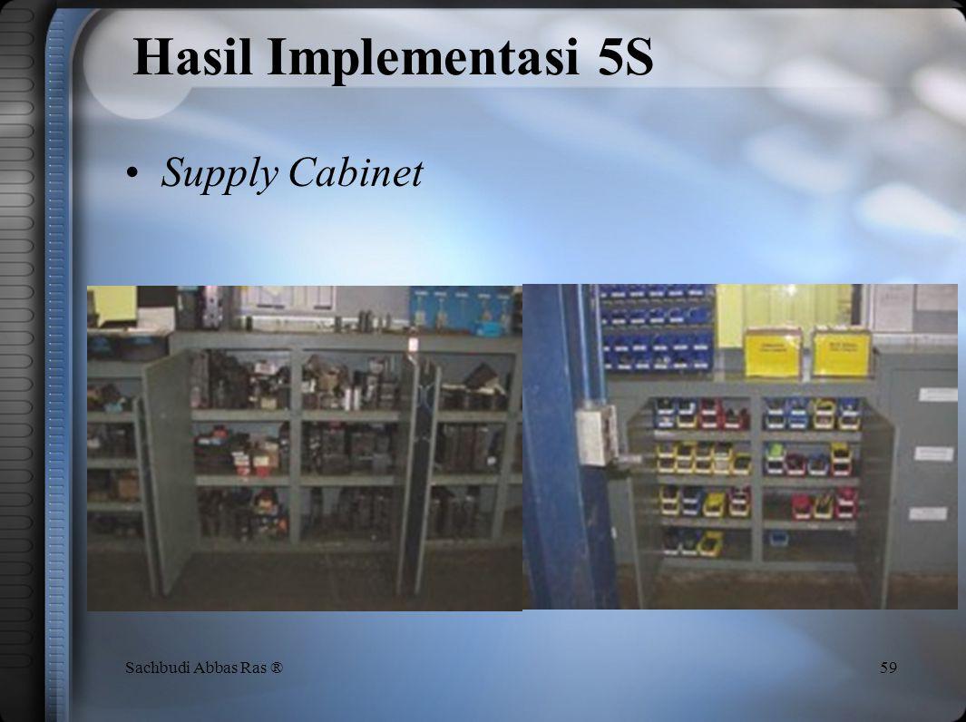 Hasil Implementasi 5S Supply Cabinet Sachbudi Abbas Ras ®