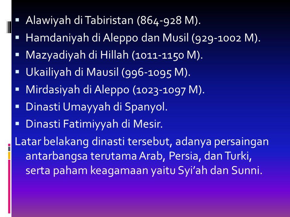 Alawiyah di Tabiristan (864-928 M).