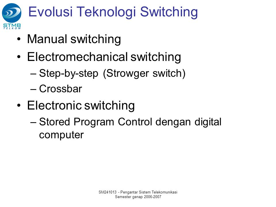 Evolusi Teknologi Switching