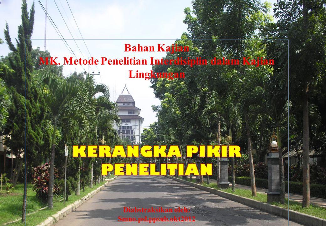 MK. Metode Penelitian Interdisiplin dalam Kajian Lingkungan
