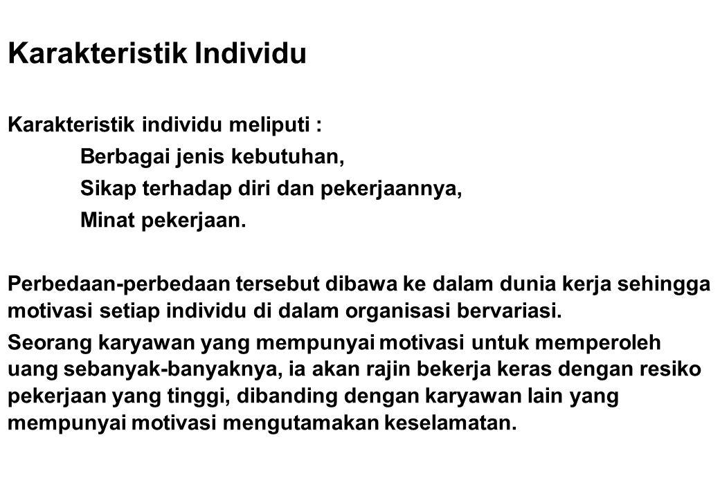 Karakteristik Individu