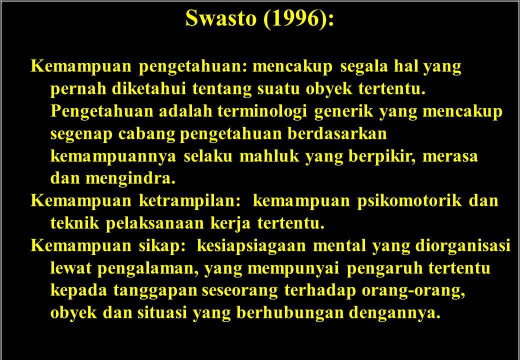 Swasto (1996):