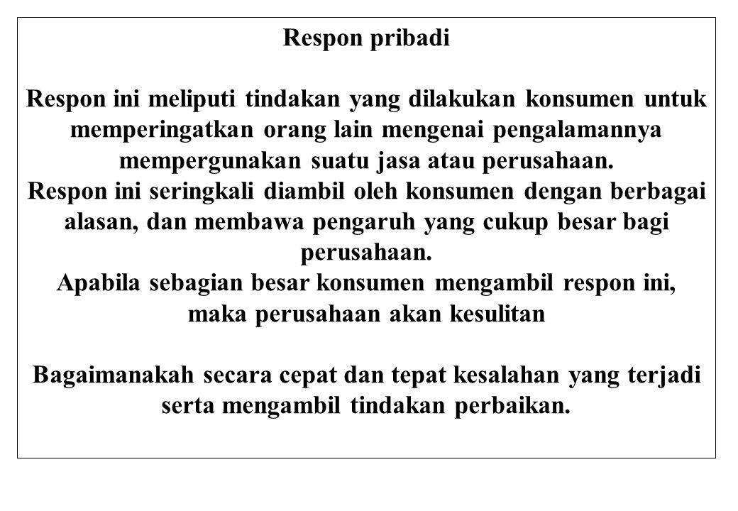 Respon pribadi