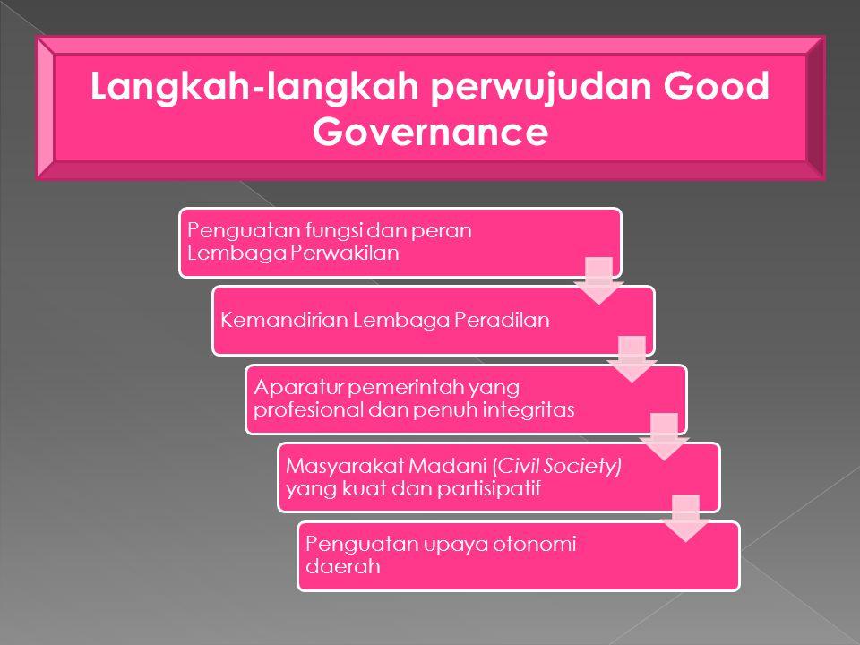 Langkah-langkah perwujudan Good Governance