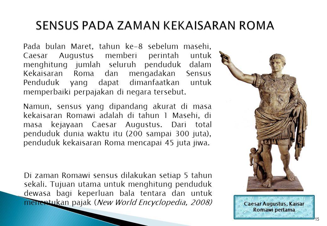 SENSUS PADA ZAMAN KEKAISARAN ROMA