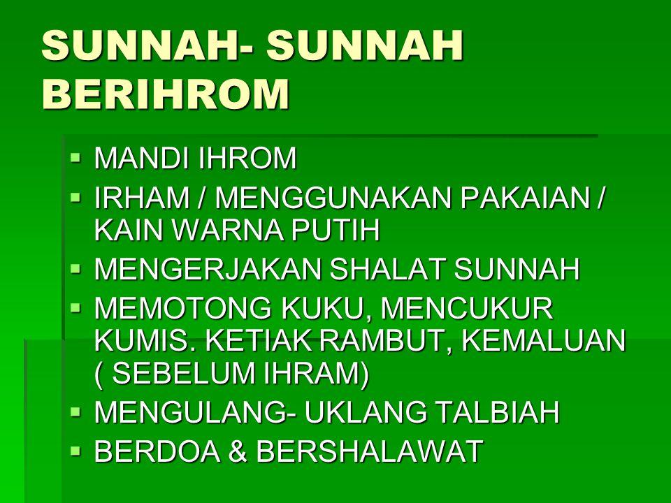 SUNNAH- SUNNAH BERIHROM