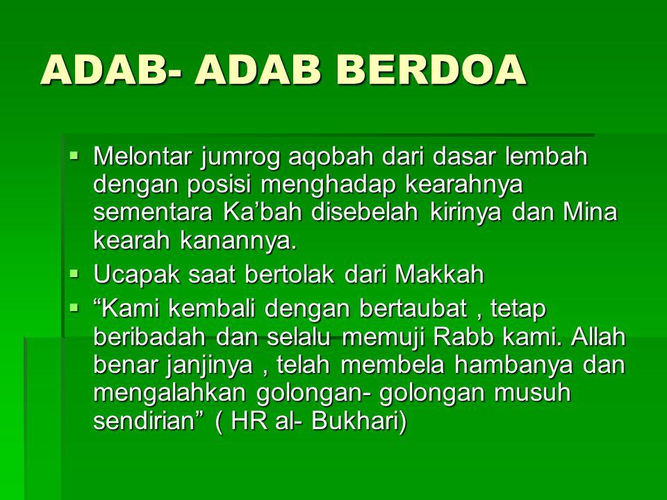 ADAB- ADAB BERDOA