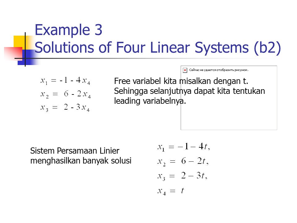 Example 3 Solutions of Four Linear Systems (b2)
