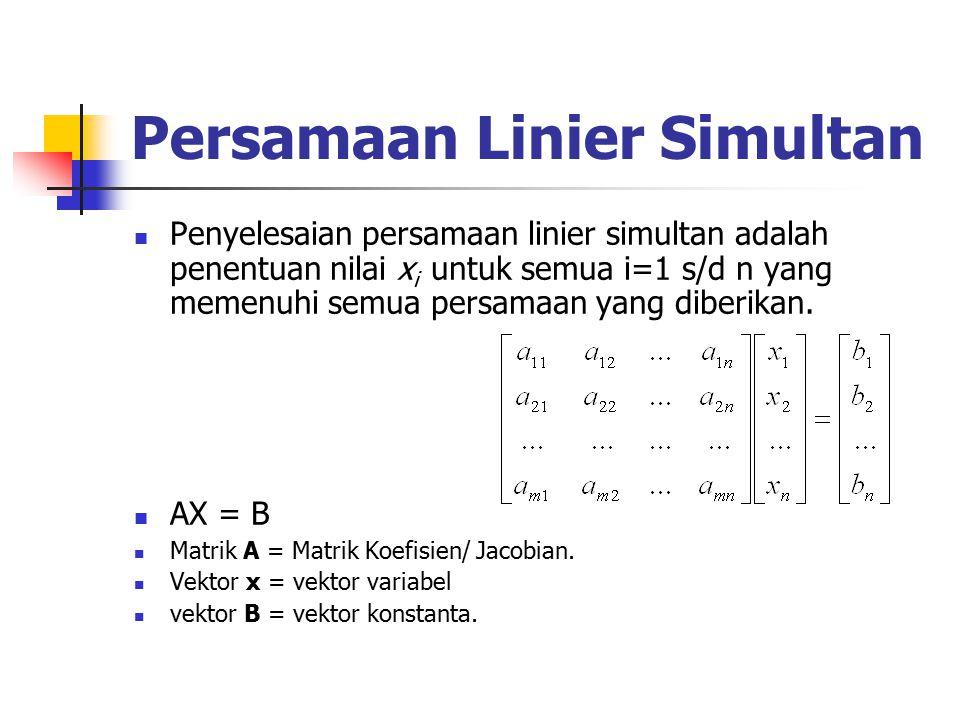 Persamaan Linier Simultan