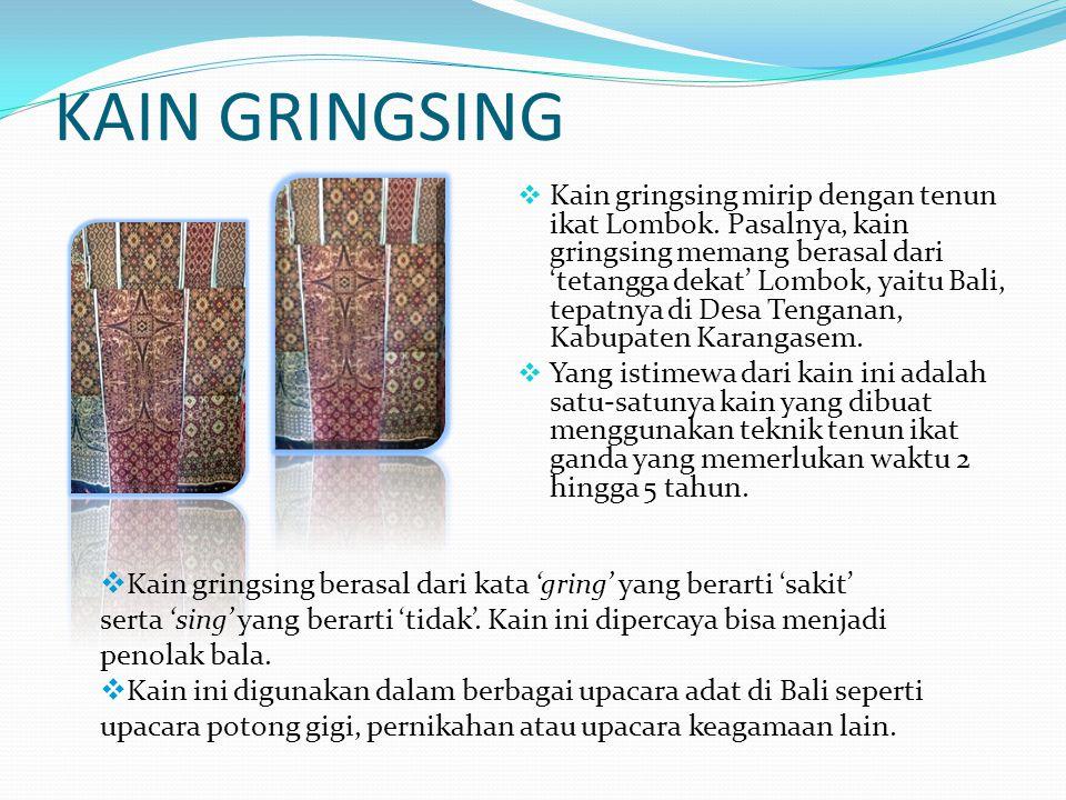 KAIN GRINGSING