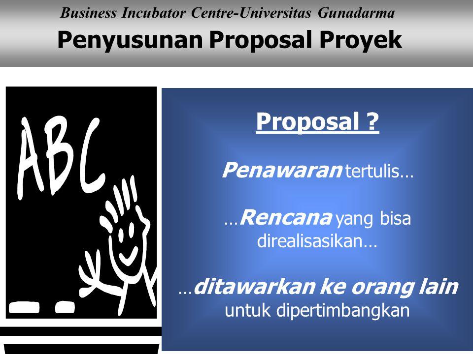 Proposal Penawaran tertulis… …Rencana yang bisa direalisasikan…