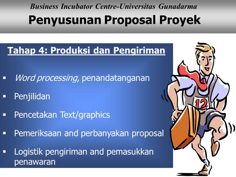 Tahap 4: Produksi dan Pengiriman
