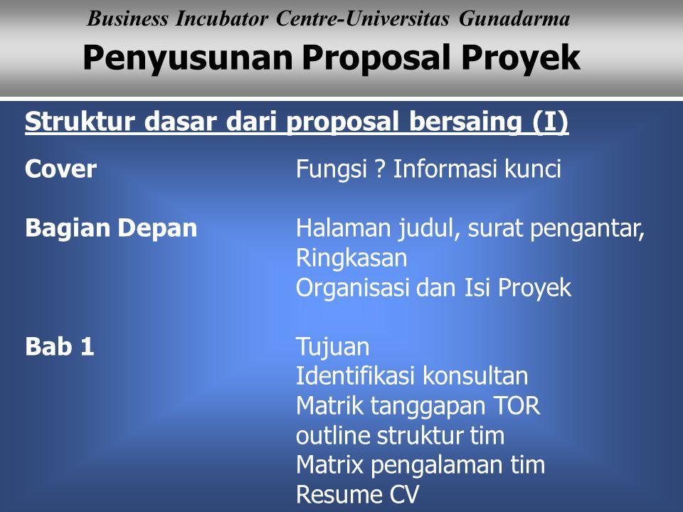 Struktur dasar dari proposal bersaing (I)