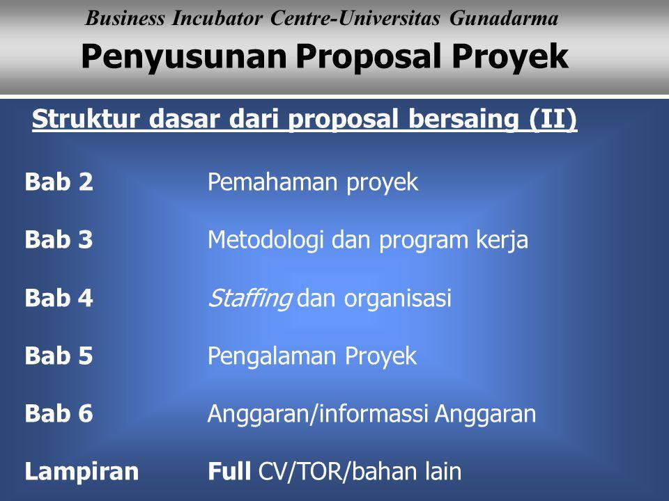 Struktur dasar dari proposal bersaing (II)