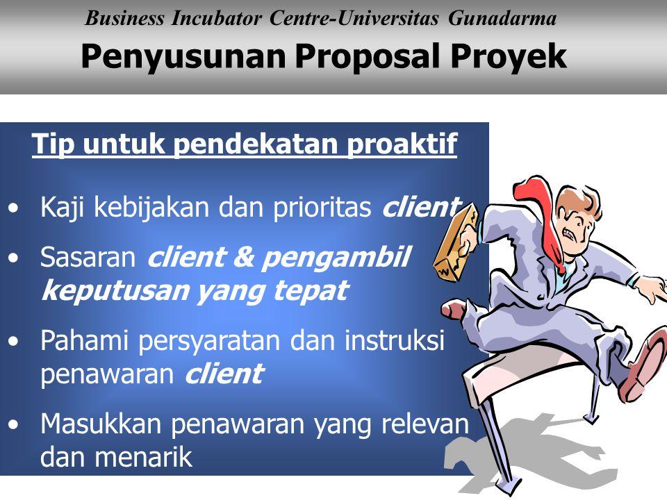 Tip untuk pendekatan proaktif