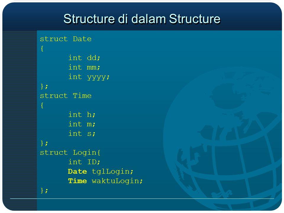 Structure di dalam Structure
