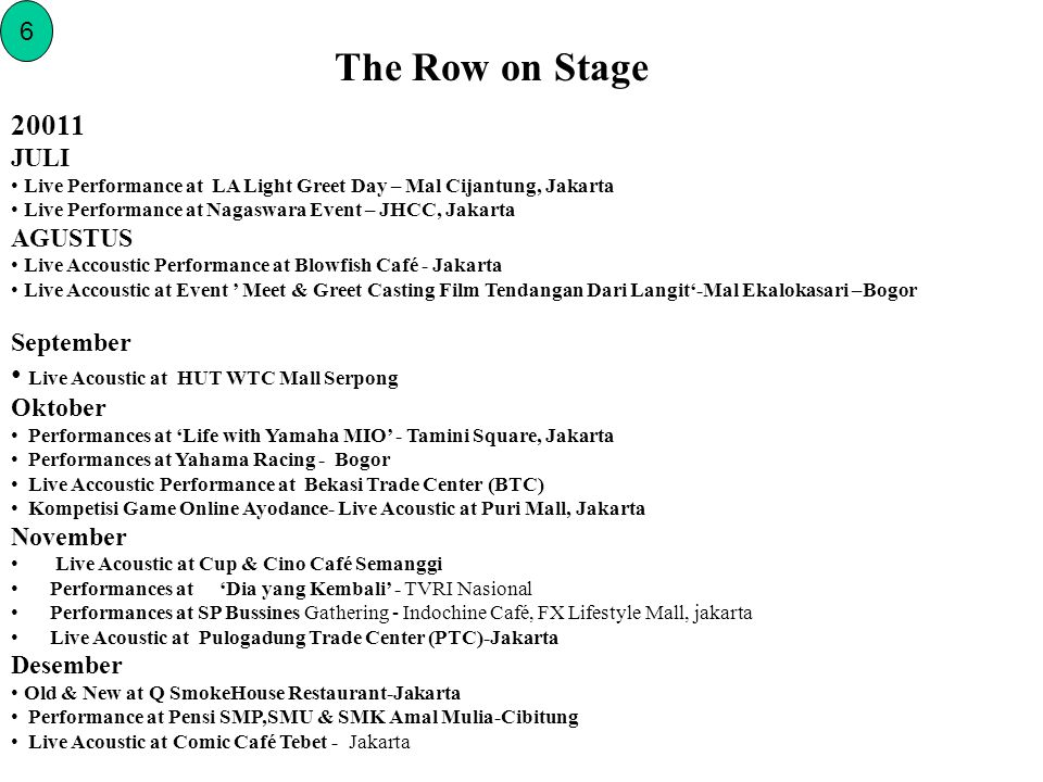 The Row on Stage 20011 Live Acoustic at HUT WTC Mall Serpong 6 JULI