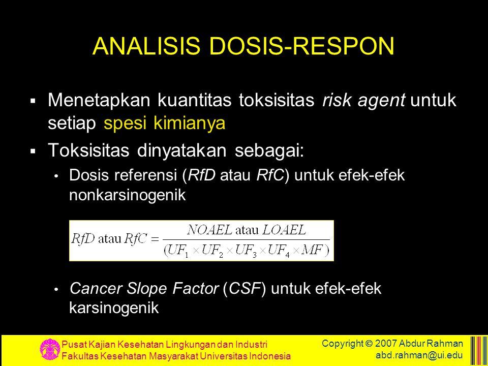 ANALISIS DOSIS-RESPON