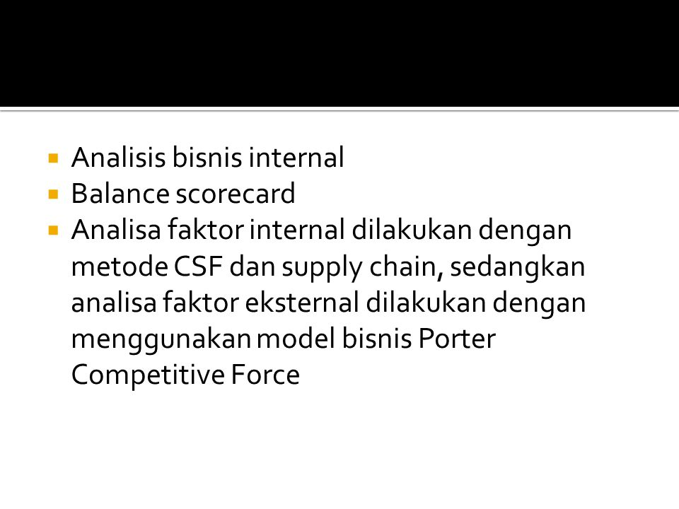Analisis bisnis internal