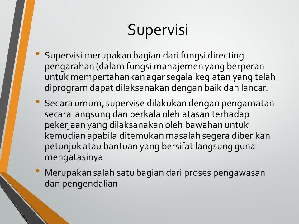 Supervisi
