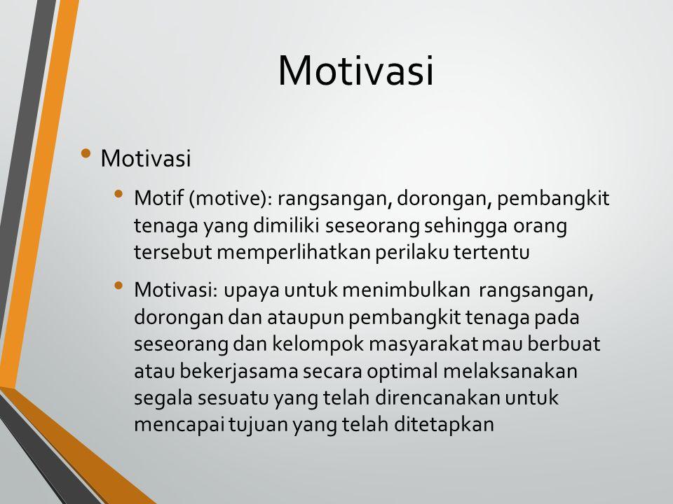 Motivasi Motivasi.
