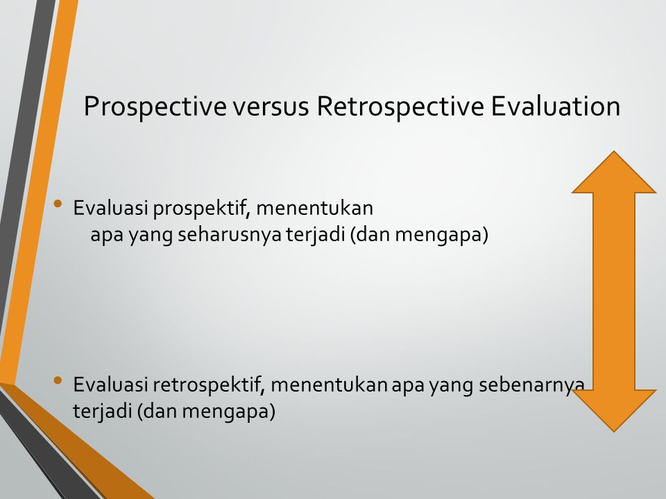 Prospective versus Retrospective Evaluation