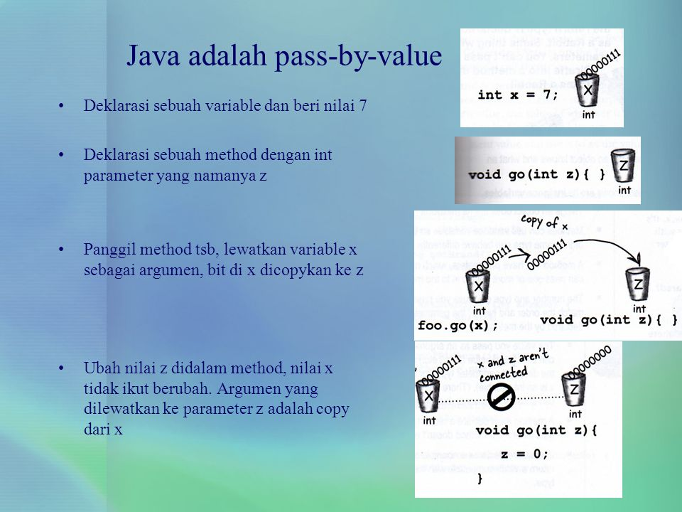 Java adalah pass-by-value