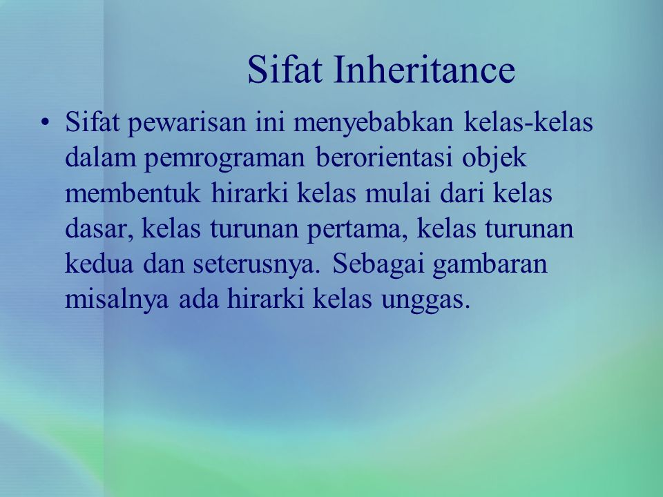 Sifat Inheritance