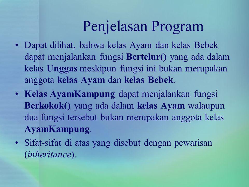 Penjelasan Program