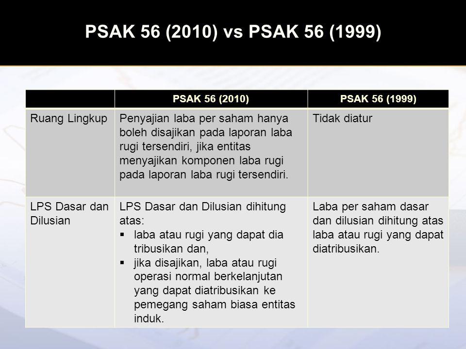 PSAK 56 (2010) vs PSAK 56 (1999) Ruang Lingkup