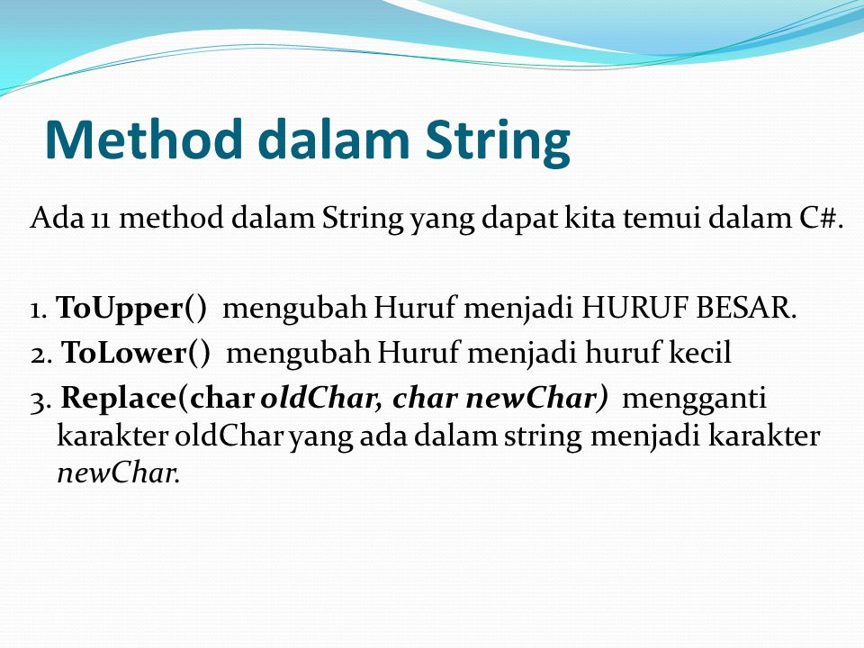 Method dalam String