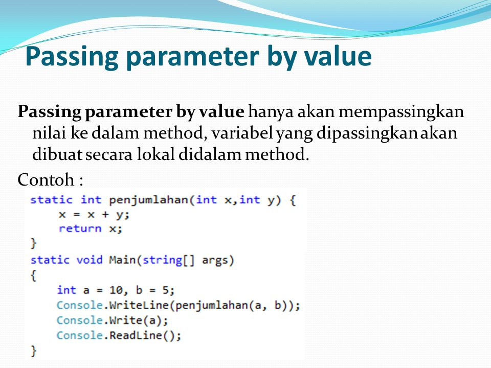 Passing parameter by value