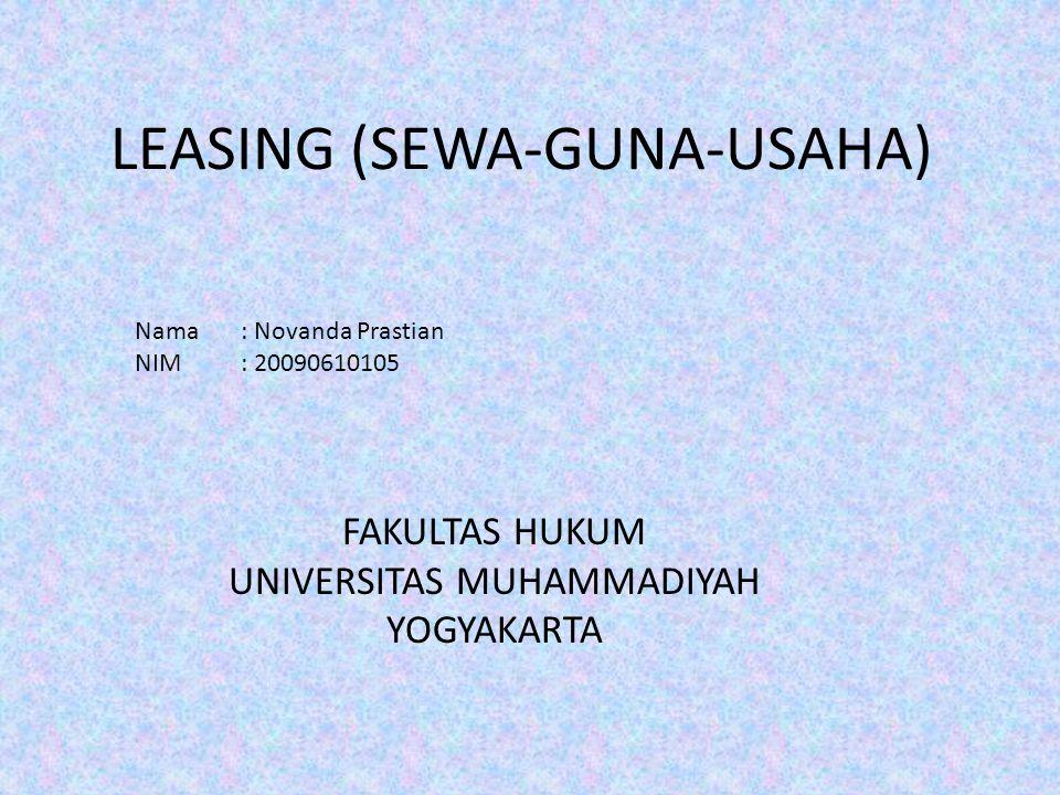 LEASING (SEWA-GUNA-USAHA)