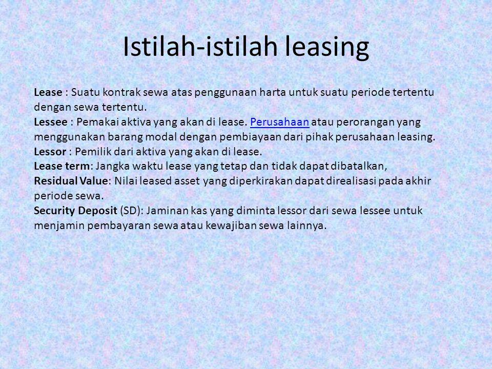 Istilah-istilah leasing