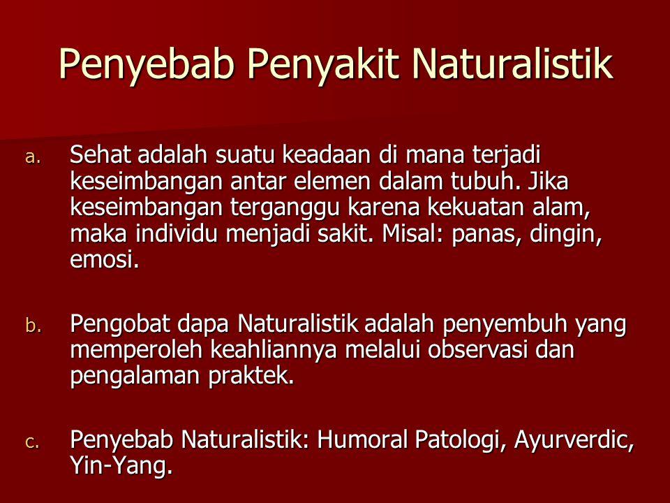 Penyebab Penyakit Naturalistik