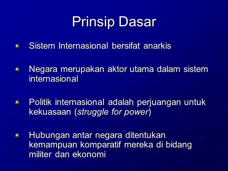 Prinsip Dasar Sistem Internasional bersifat anarkis