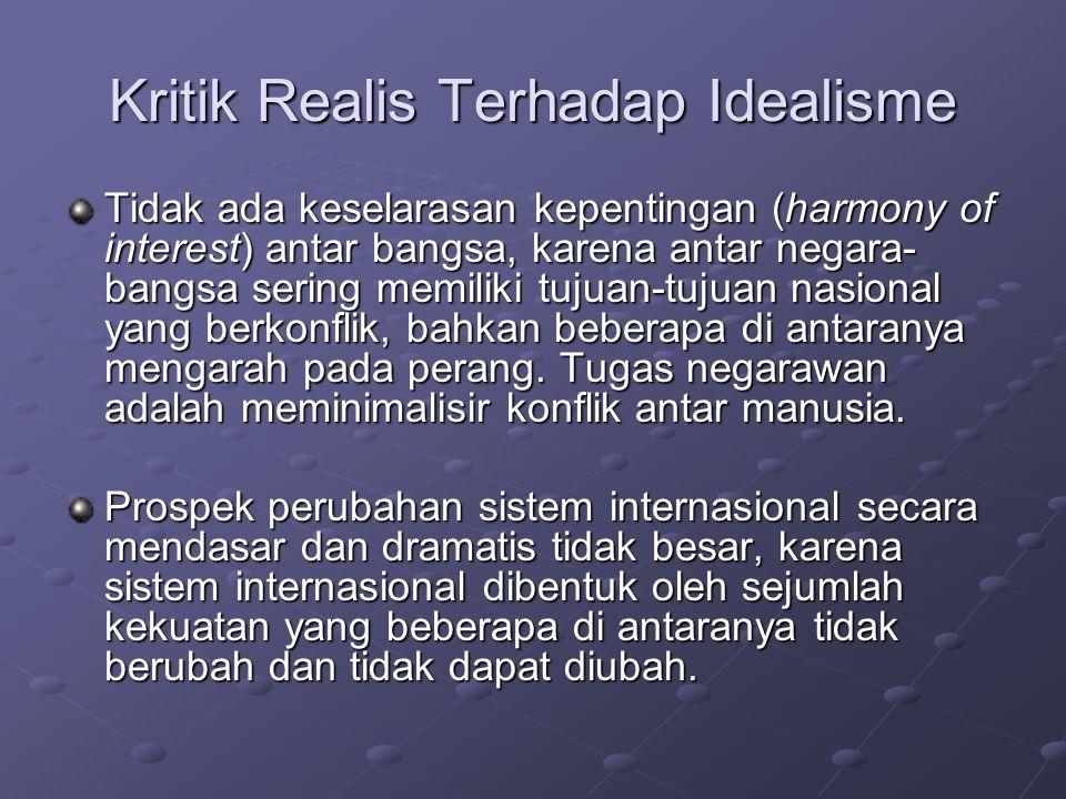 Kritik Realis Terhadap Idealisme