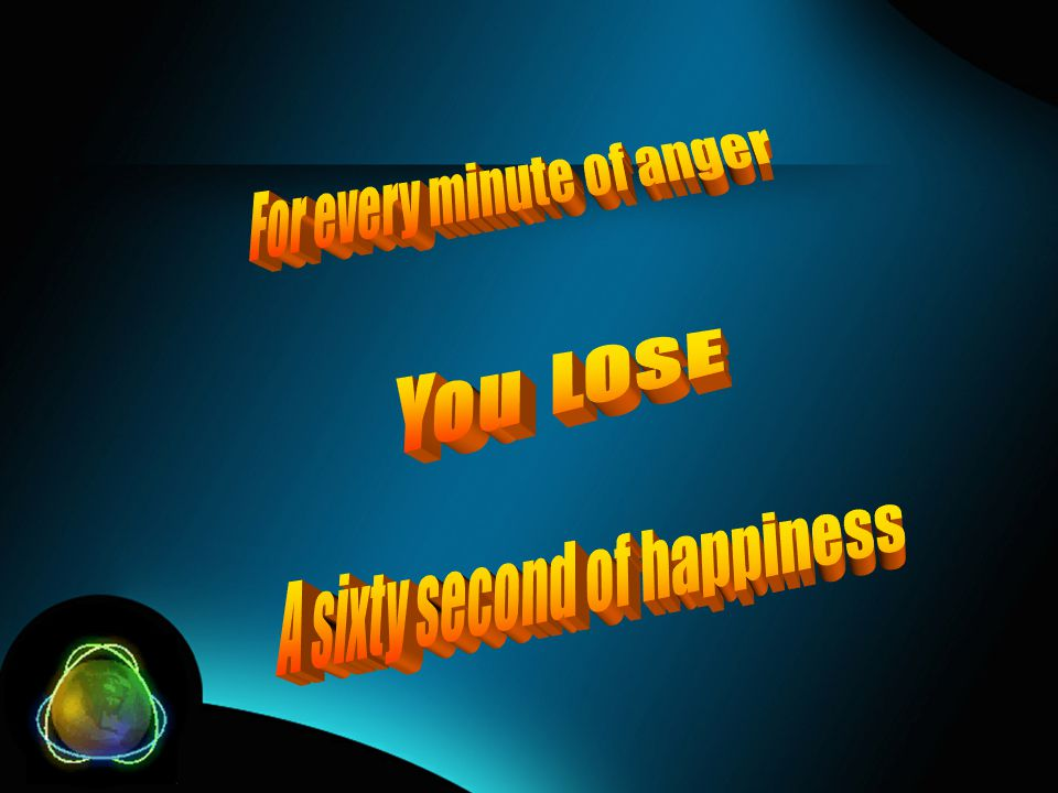 For every minute of anger