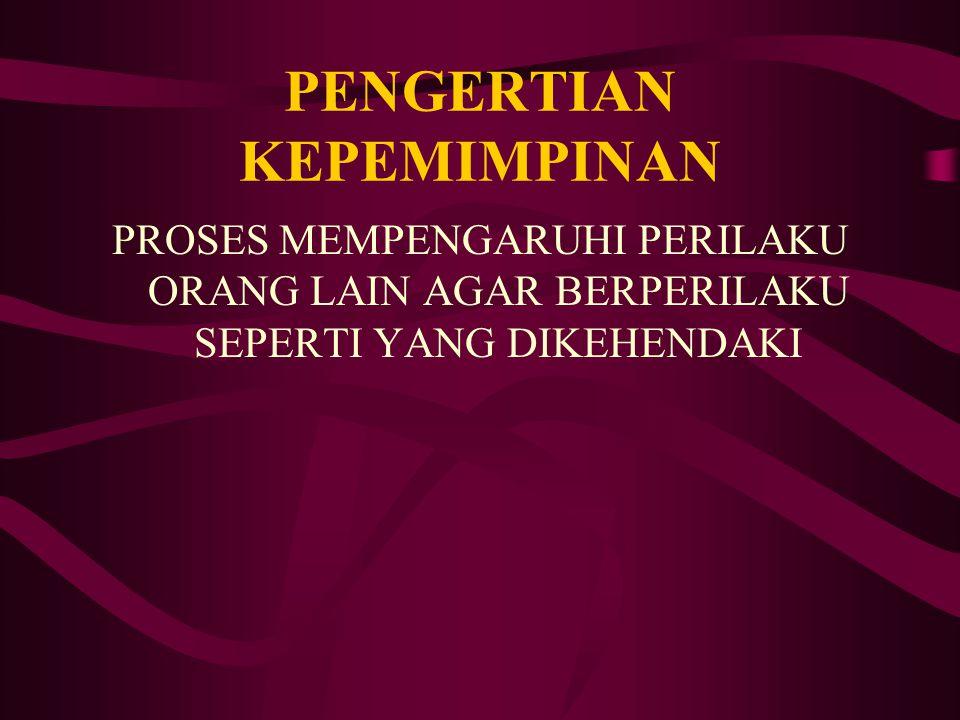 PENGERTIAN KEPEMIMPINAN