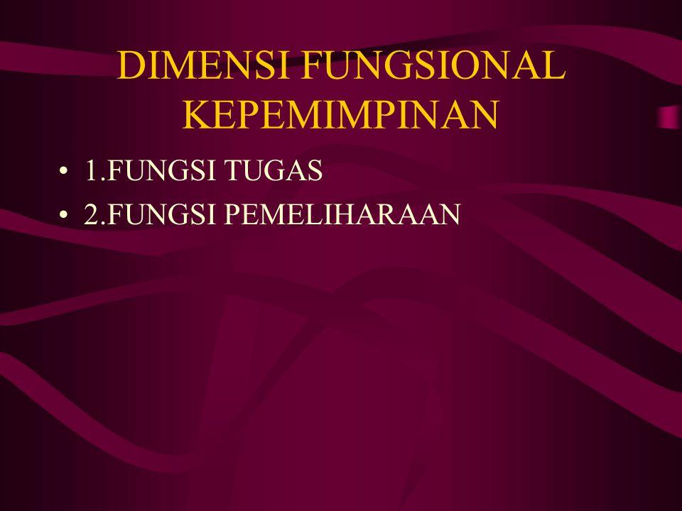 DIMENSI FUNGSIONAL KEPEMIMPINAN